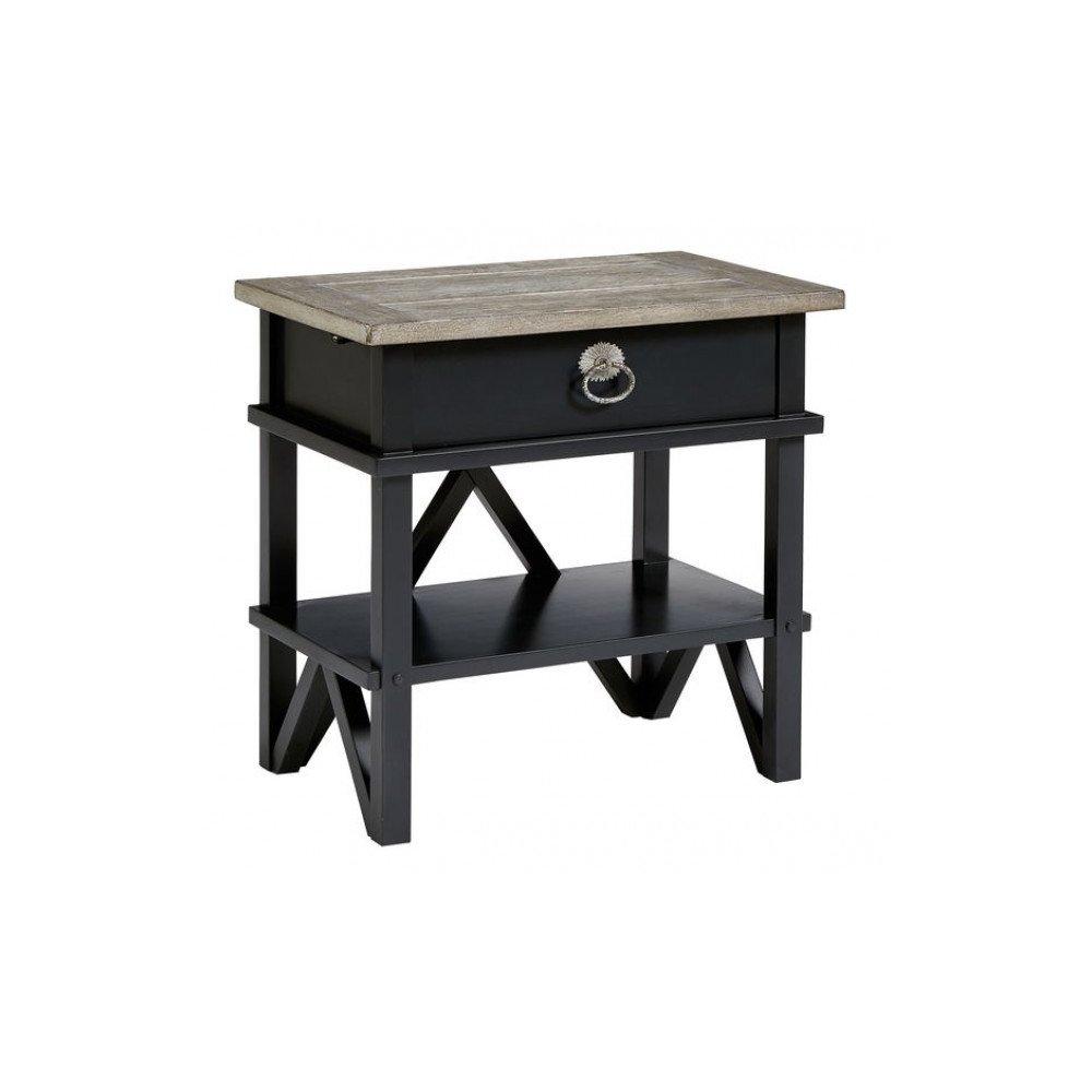 Summer Creek Berkshires Black Bedside Table