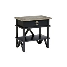Summer Creek Berkshires Black Bedside Table