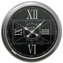 Metal & Glass Wall Clock  24in X 24in X 3in