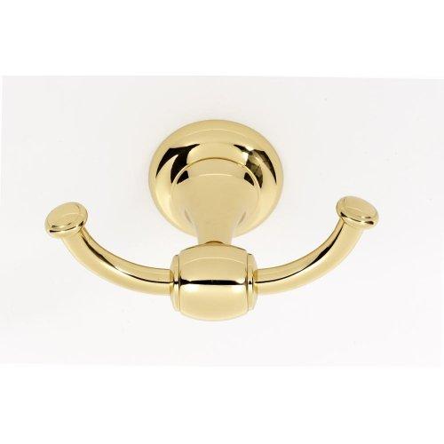Royale Double Robe Hook A6684 - Polished Brass