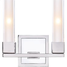 Visual Comfort S2155PN-CG Ian K. Fowler Kendal 2 Light 9 inch Polished Nickel Decorative Wall Light