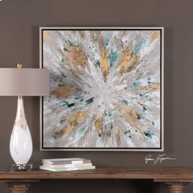 Exploding Star Hand Painted Canvas