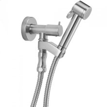 Pewter - Paloma Bidet Spray Kit with On/Off Water Supply