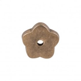 Aspen Flower Backplate 1 Inch - Light Bronze
