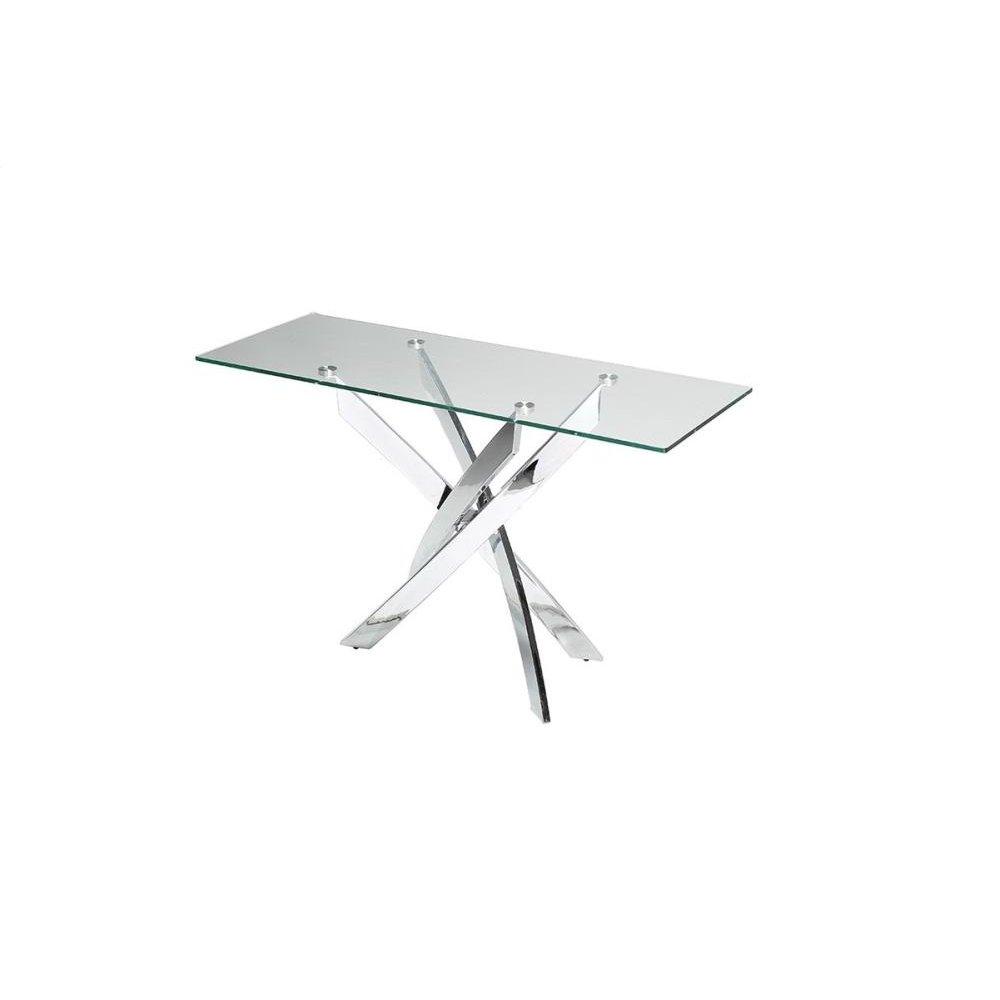 Modrest Pyrite Modern Glass Console Table