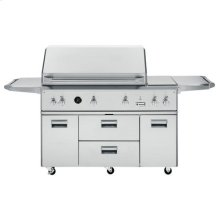 "GE Monogram® 54"" Outdoor Cooking Center with Integrated Side Burners"