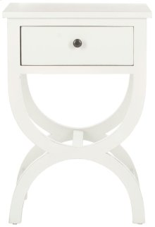 Maxine Accent Table With Storage Drawer - Shady White