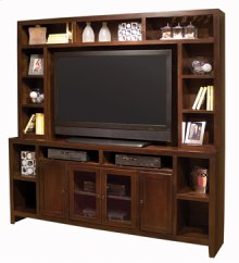 "Essentials Lifestyle 84"" Console and Hutch"