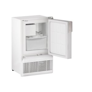 "U-LineMarine Series 14"" Marine Crescent Ice Maker With White Solid Finish and Field Reversible (flange To Cabinet) Door Swing (115 Volts / 60 Hz)"