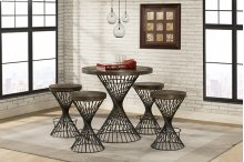 Kanister Counter Height 5 Piece Dining Set