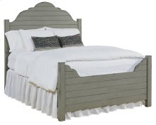 Dove Grey Shiplap Queen Bed
