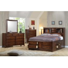 Hillary and Scottsdale Cappuccino King Five-piece Bedroom Set