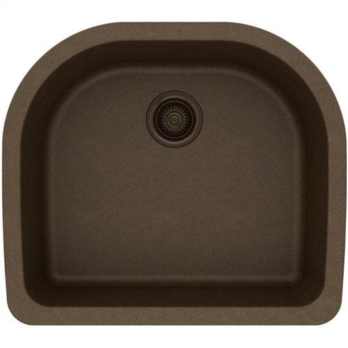 "Elkay Quartz Classic 25"" x 22"" x 8-1/2"", Single Bowl Undermount Sink, Mocha"