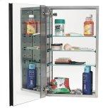 Alno IncMirror Cabinet MC20244 - Stainless Steel