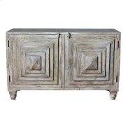 Bengal Manor Mango Wood 2 Stacked Pyramid Door Cabinet Product Image