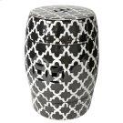 Patterned Stool, Black/White Product Image