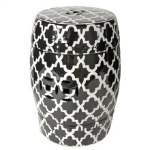 Patterned Stool, Black/White