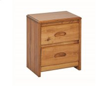 Heartland Flat Top Night Stand with options: Honey Pine