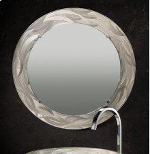"Round Engraved Mirror- 3"" Border"