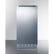 Built-in Undercounter Manual Defrost Icemaker With Complete Stainless Steel Wrapped Exterior Finish; No Drain Required