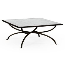 glomise and Bronze Square Coffee Table