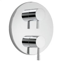 Serin 2-Handle Thermostatic Valve Trim Kit - Polished Chrome