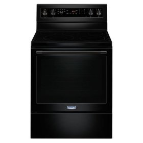 Maytag® 30-Inch Wide Electric Range With True Convection And Power Preheat - 6.4 Cu. Ft. - Black