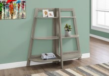 "BOOKCASE - 48""H / DARK TAUPE ACCENT ETAGERE"