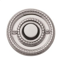Polished Nickel with Lifetime Finish Beaded Bell Button