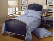 Brayden Mesh Twin Bed Silver and Navy