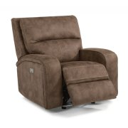 Rhapsody Fabric Power Gliding Recliner with Power Headrest Product Image
