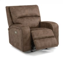 RED HOT BUY! Gray Power Gliding Recliner with Power Headrest