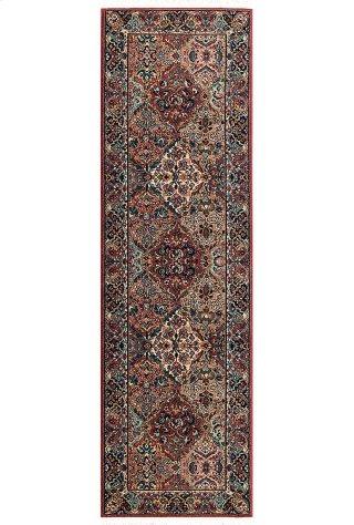 Multicolor Panel Kirman - Runner 2ft 6in x 8ft 6in
