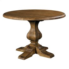 Artisans Shoppe 44IN Round Dining Table W/ Wood Base - Tobacco