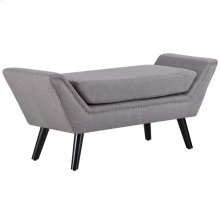 Gambol Upholstered Fabric Bench in Light Gray
