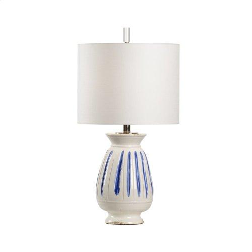 Capri Lamp - Cobalt Stripe