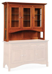 "West Lake Open Hutch Top, 41 1/2""w, Antique Glass"