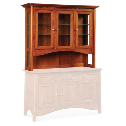 """West Lake Open Hutch Top, 74"""", Antique Glass"""