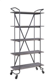 "Emerald Home Quincy 36""bookshelf W/5 Shelves, Antique Grey Ac415-36 Product Image"