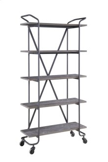 "Emerald Home Quincy 36""bookshelf W/5 Shelves, Antique Grey Ac415-36"