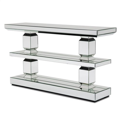 Mirrored 3-tier Console Table (3 Pc)