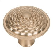 Mandalay Round Knob 1 5/16 Inch - Champagne