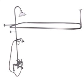 Rectangular Shower Unit - Metal Lever 2 Handles - Polished Chrome