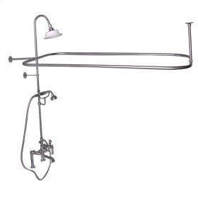 Code Rectangular Shower Unit - Metal Lever 2 Handles - Brushed Nickel