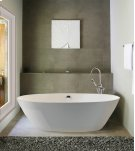 Alissa 126 freestanding oval tub in SculptureStone Product Image