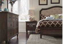 King Panel Bed, Dresser & Mirror