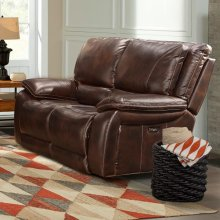Vail Burnt Sienna Power Loveseat