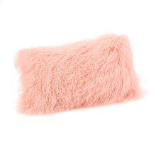 Lamb Fur Pillow Rect. Pink
