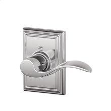 Accent Lever with Addison Trim Non-Turning Lock - Bright Chrome