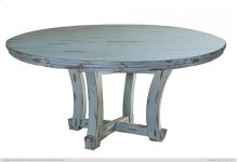 "60"" Round Table Top, Blue Finish"